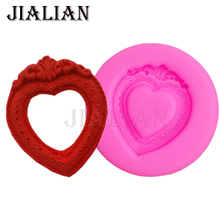 Craft Molds DIY Heart frame kitchen Baking accessories Photo Love Shape Cake cooking tools chocolate silicone mold T0741