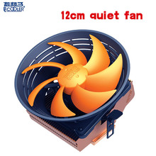 PCcooler Q121 cpu cooler 120mm quiet fan for AMD AM2 FM2 AM3 Intel 775 1150 1151 1155 1156 computer PC cpu cooling radiator fan