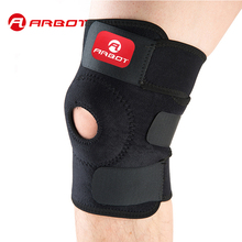 Arbot High Quality Patella Knee Pads Football Basketball Volleyball Black Durable Knee Shin Protector Guard Pad Kneepad Black(China)