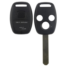 Remote Key Shell 3 Buttons For Honda Accord Insight CRV Civic Odyssey Pilot Ridgeline Car Alarm Keyless Entry Fob Case With Logo