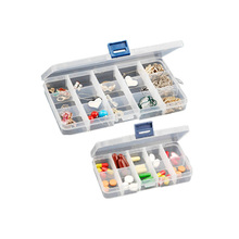 Hot !Plastic 10/15/24 Slots Jewelry Adjustable  Trinkets Commodities Tool Box Case Craft Organizer Storage