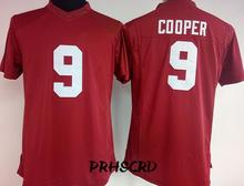 #9 Amari Cooper vrouwen S/M/L/XL/XXL College Throwback Jersey Rood en wit(China)