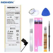 100% Original NOHON High Capacity 1960mAh Battery For iPhone 6 Mobile Phone Replace Batteries Quality Retail Package Free Tools