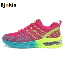 Bjakin Women's Sneakers Breathable Cushioning Women Running Shoes Breathable Wave Sports Shoes for Jogging Walking Female(China)