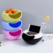 Snacks Storage Box Bedroom Dried Fruit Tray Organizador Balcony Food Grade PP Boxes Car Food Container Office Accessories Basket