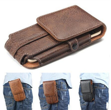 High Quality Stone Pattern PU Leather Case Hook Loop Belt Bags For Smartphone iMAN Victor Phone Waist Cover