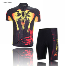 XINTOWN Men Ropa Ciclismo Cycling Jersey Bike Bicycle Clothing Short Sleeve Suit Short Set Breathable Eagle Wings