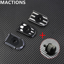 Motorcycle Seat Bolt Tab Screw Mount Knob Cover CNC Deep Cut Kit For Harley Sportster Dyna Touring Fatboy Road King Softail