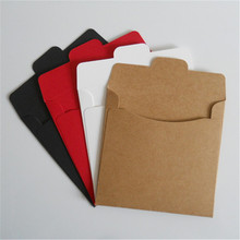 20 x Kraft Paper CD Sleeves Discs DVD Packaging Bag Box CD Case Cover Envelope For Wedding Event Party white red black(China)
