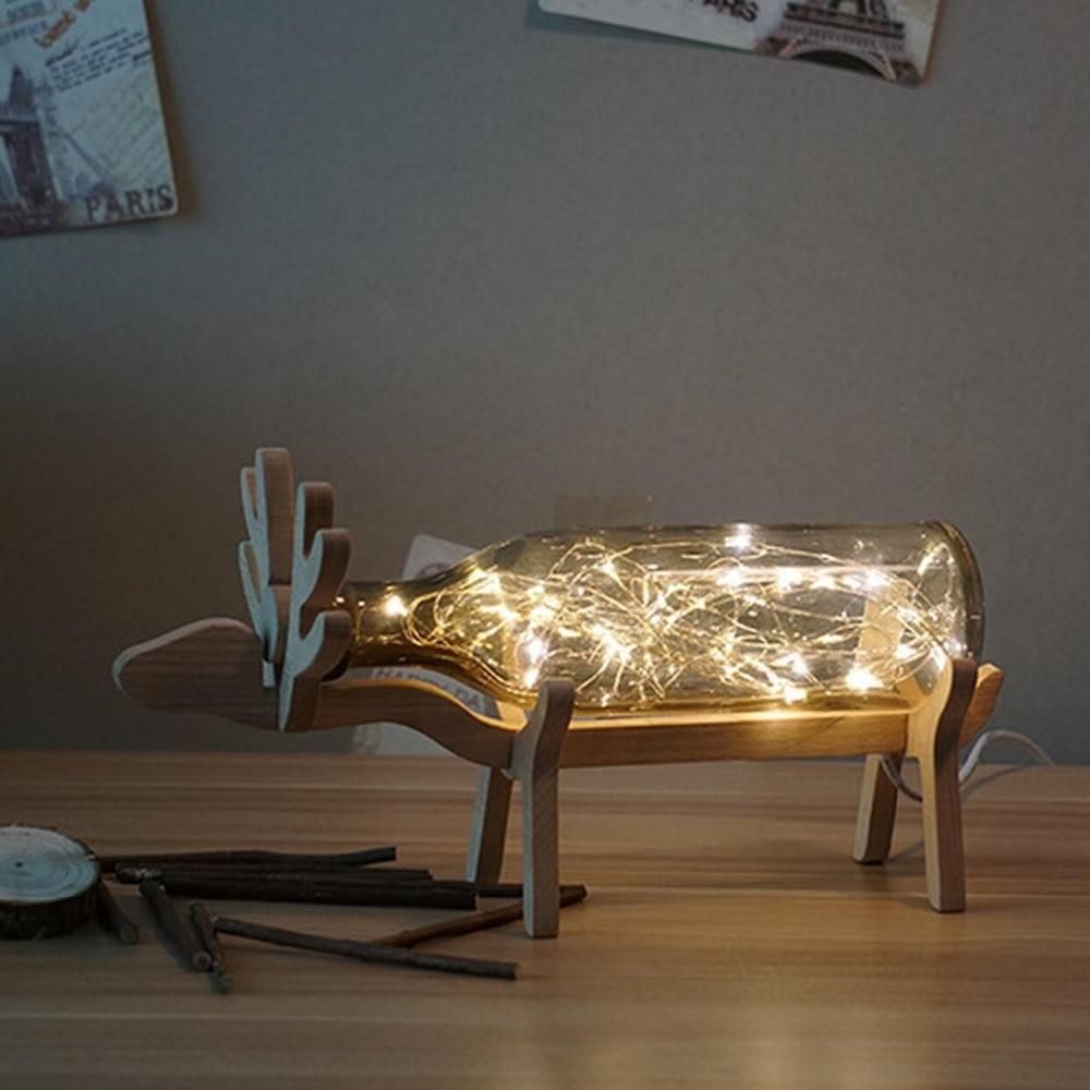 Modern decoration glass Lamp elk design adjustable light best  gift<br>