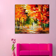 100% Handpainted Abstract Autumn Season Knife Oil Painting On Canvas Cheap Modern Canvas Art Home Decor As Best Gift No Frame