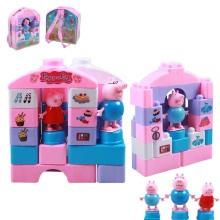 Assembled Pink Pig Fancy To Hold Large Particles  Play Backpack Blocks