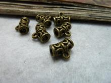50Pcs Bail Bead Spacers Antique Silver Tone Beautiful Design DIY Findings