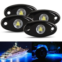 Color Changing Led RGB Rock Lights 4 PODS for Car Jeep Off Road Truck ATV SUV Boat Trail Rig Ship from US
