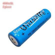 2 pieces/lot 18650 3.7 V 4800 mAh 18650 Lithium Rechargeable Robot Vacuum cleaner Battery DIY For Robotic Sweeper(China)