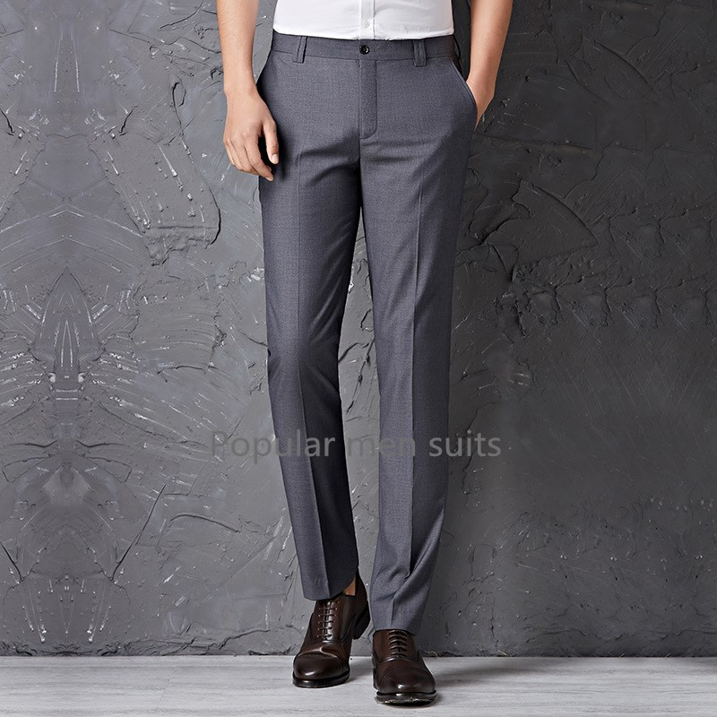 New 2018 High Quality Men Pure color Formal Business suit pants Custom Made wedding bridegroom suit trousers Plus size XS-5XL