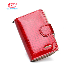 New pattern Genuine leather women's short design wallet fashion classic crocodile pattern purse female  Wallets Cowhide 3 Colors