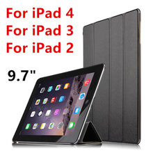 Case For Apple iPad 4 iPad3 iPad2 Protective Smart cover Protector Leather PU Tablet For iPad4 iPad 3 2 Sleeve Covers 9.7 inch