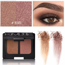 Cosmetic Makeup Shimmer Matte Naked 2 Colors Eyeshadow Palette Sombras(China)