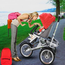 Buy Brand New Mother Baby Bike Stroller Kids Folding Three Wheels Pram Bicycle Child Bike Carriage Kids Taga Bicycle Stroller for $563.09 in AliExpress store