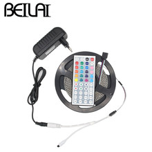BEIYUN 2835 RGB LED Strip Waterproof 5M 1170LED 234LED/m DC 12V Fita LED Light Strips Flexible Tape Add 3A Power 44Key Remote(China)