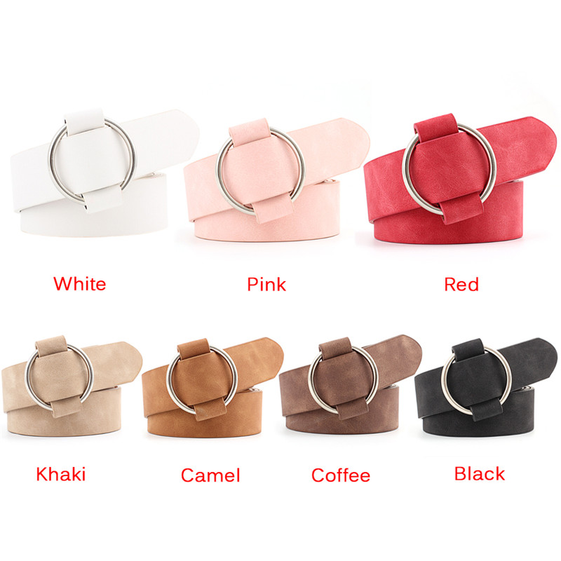 Ladies Without Buckles Belts For Jeanw Fashion Womens Round Casuals Modeling Belts Designer Leather Belt  Ne