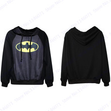 Batman Sweatshirts Women Tracksuits Yellow Smile Print Skateboard Hoodies The Dark Knight Sweat Autumn Leisure Loose Sports Suit(China)