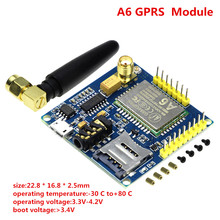 Smart Electronics A6 GPRS Module Text Messages Development Board GSM GPRS Wireless Data Transmission Of Super SIM900A(China)