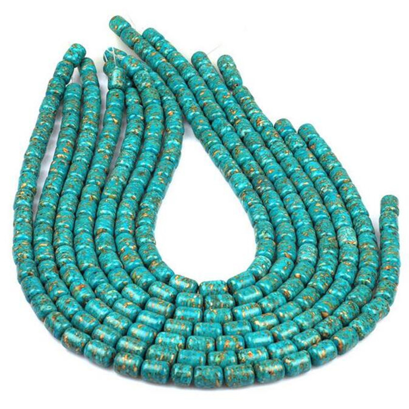 Aluminum Beads Turquoise Blue Oval 6x9mm 30 pcs Spacer Bracelet Findings