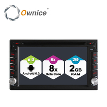 Ownice 4G SIM LTE Android 6.0 Octa Core 2G RAM Universal Car Radio Auto 2 Din Car DVD Player In Dash GPS Stereo Head Unit(China)
