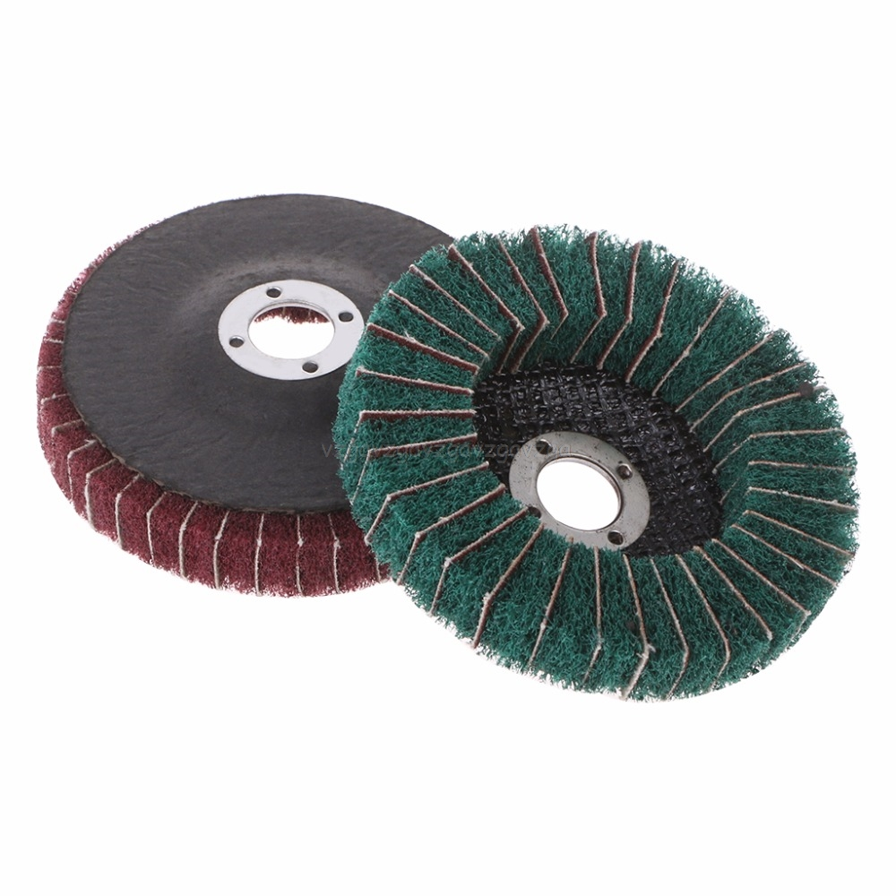 "10PCS 1/"" Brown Coarse Abrasive Buffing Polishing Wheels Burr For Rotary Tools"