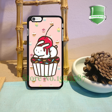 The Chubby Bunny cupcake Original Black Cell Phone Cases For Iphone 7 7plus 6 6 plus 6s 6splus 5 5s 5c 4 4s B*0277