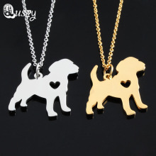 Stainless Steel Beagle Necklace Pendant Puppy Heart Dog Lover Memorial Pet Necklaces & Pendants Charms Christmas Gift nc
