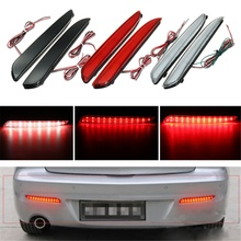 2Pcs 24 LED Rear Bumper Reflector Tail Brake Stop Running Turning Light For Mazda 3 2010-2013(China)