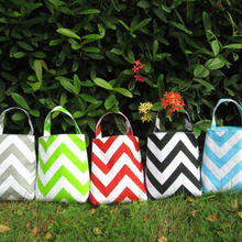 Wholesale Canvas Chevron Car Trash Bag ,Monogramable Car Accessory Holder Bag in 5 color DOM-101065