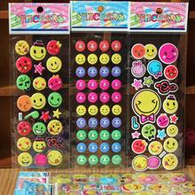 reward stickers 10 / lot mixed wholesale Smiley 3D DIY bubble wall stickers toys / cartoon bubble stickers Decorative 7 * 17cm