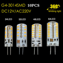 10pcs LED Light G4 LED Spotlight 3014 SMD 3W/4W/5W/6W DC12 AC 220V Replace 30/40W Halogen Lampada Lamp Chandelier(China)