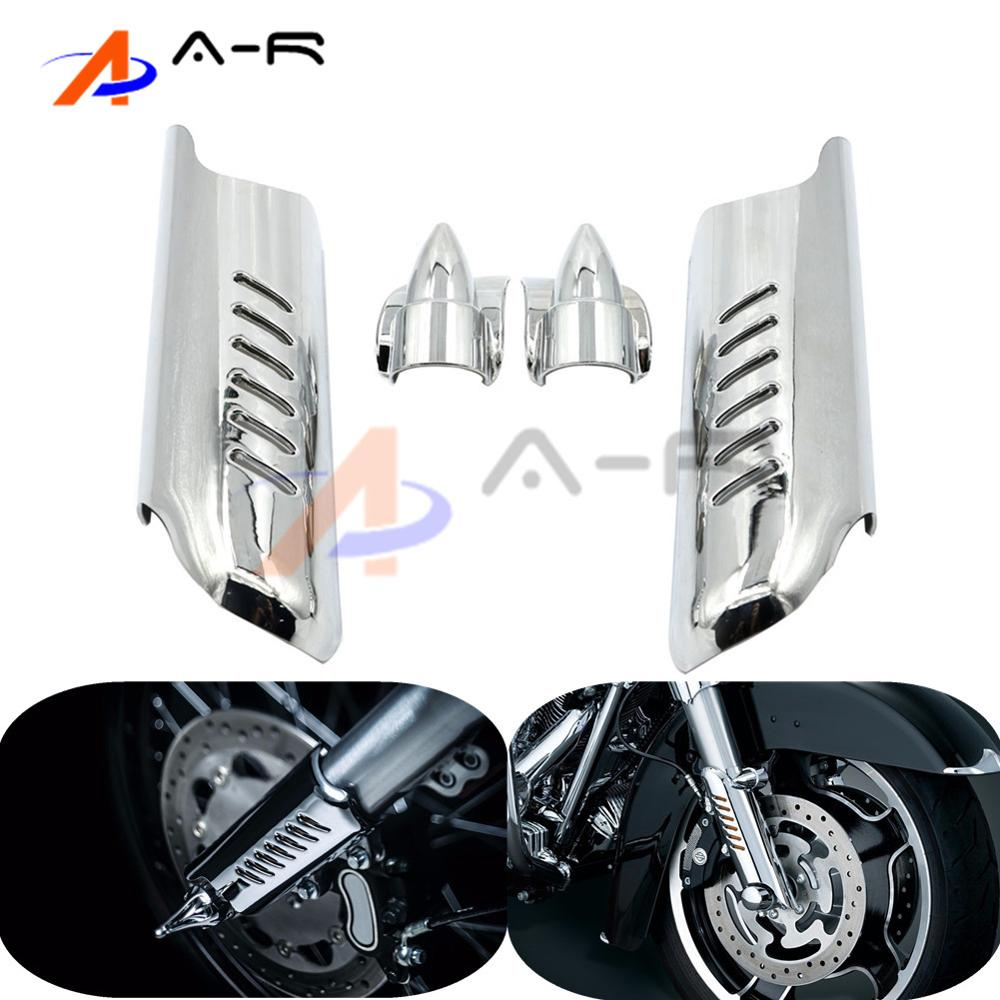 Motorcycle Lower Fork Leg Cover Guard Deflector Shield for Harley Touring Tri Glide Ultra Classic 12-13 Road King Custom 04-06<br>