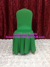 1pcs Extra Thicker #30 Green Large Skirting Lycra Chair Cover, Lycra Chair Cover for Wedding Events&Party Decoration(China)