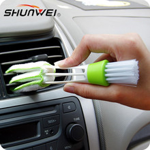 Double Head Car Air-condition Brush Keyboard Dust Collector Window Leaves Blinds Cleaner Duster Computer Clean Tools