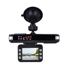 Luturadar Car 2 in 1 dash camera dvr radar detector with 360 degree full band k ka x anti police speed gun English/Russian voice(China)