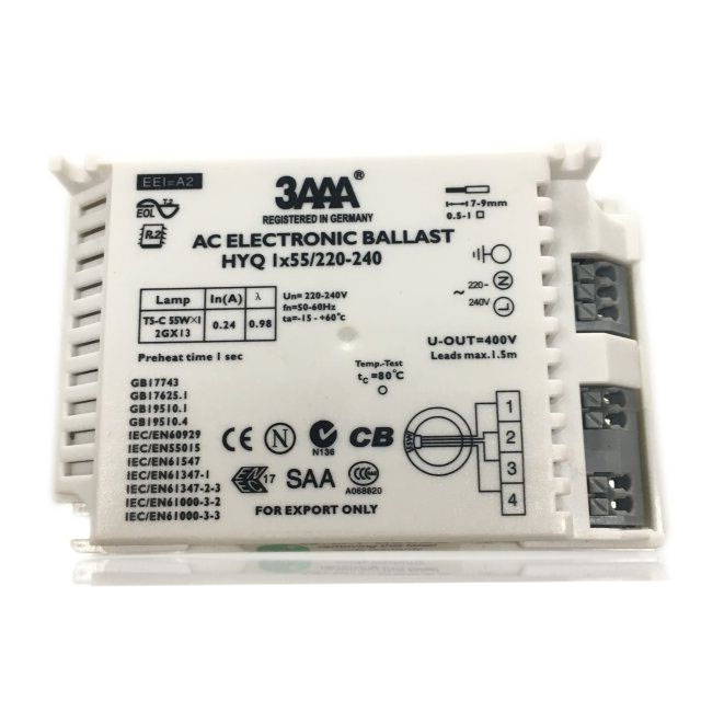 3AAA 55W HYQ 1*55/220-240V AC Looped Fluorescent Lamp Electronic Ballast For T5-C Ring Lamp, SAA CB CE Certificate<br>