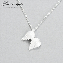 S925 Sterling Silver Angel Wing Jewelry Beautiful Cute Angel Wing Pendant Necklace