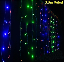 Christmas waterproof outdoor decoration 3.5m Droop 0.3-0.5m curtain icicle string led lights Garden Xmas Party 110V 220V