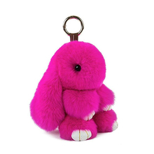 SHOWTRUE New arrival Hot sale Rabbit Fur Bunny Fashion Keychain Key Ring For Bag Gift Keychain llaveros pompom Jewelry