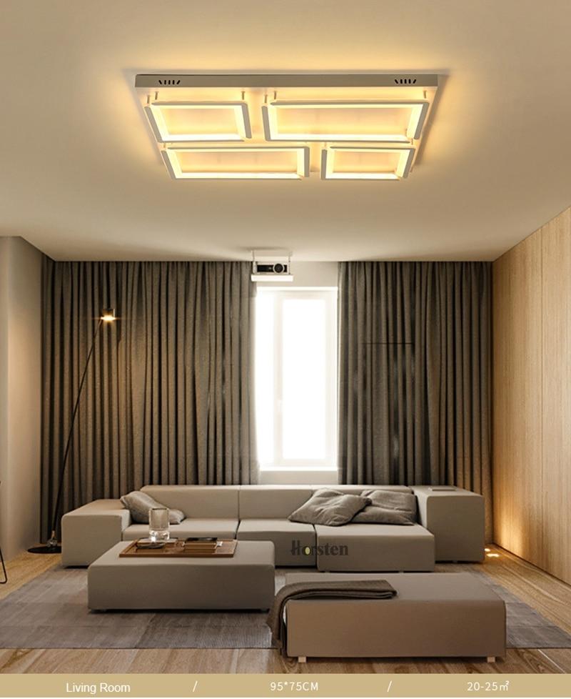 Modern Led Ceiling Light For Living Room Bedroom Kitchen Dimmer Simple LED Ceiling Lamp Home Lighting (7)
