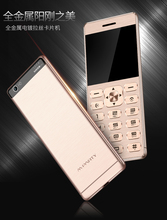 "Original MPARTY LT1 Mobile Phone Luxury Ultrathin Card Mini Phone With Metal Body 1.77""inch Bluetooth Mp3 Dual SIM Cell Phone(China)"