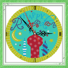 Innovation items needlework kit DIY home decoration counted cross stitch kit clock embroidery set - Muslim Clock