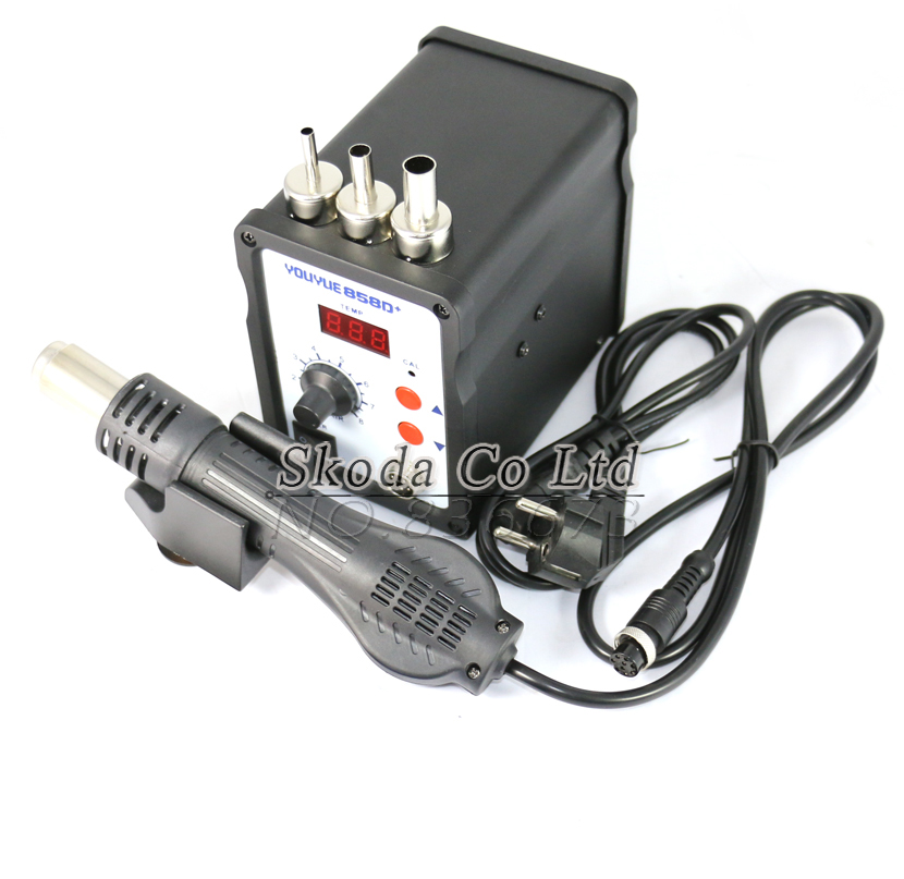 110/220V 700W SMD repair station ESD Soldering Station with 3 pcs 858 nozzle for BGA mother board repair LED Digital Display<br>