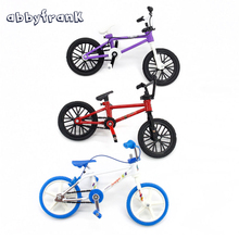 Abbyfrank Finger Bikes Mini Bicycle BMX Toys Gadgets Colorful Bicycle Novelty Finger Toys For Boys Adults Educational Toys Game(China)